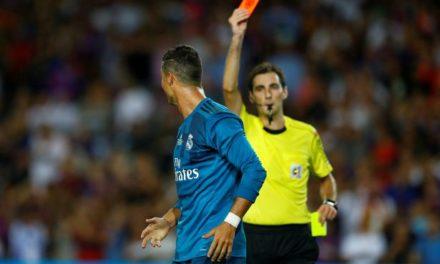 Ronaldo sent off during Supercopa de Espana