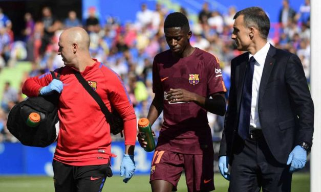 Barcelona's Ousmane Dembele out for four weeks after re-injuring hamstring