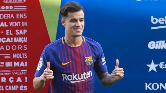 WATCH : Philippe Coutinho Unveiled As A Barca Player But Out For 3weeks With Injury
