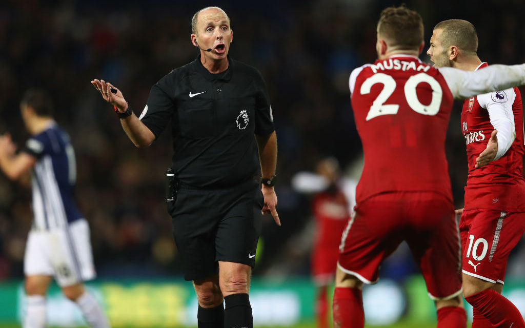 """Mike Dean """"admitted he was wrong"""" to give West Brom a penalty vs Arsenal"""