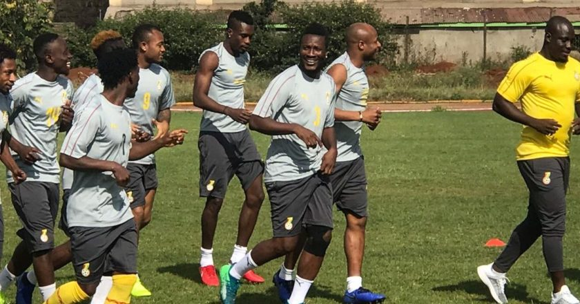 Ghana Black Stars had their first training session