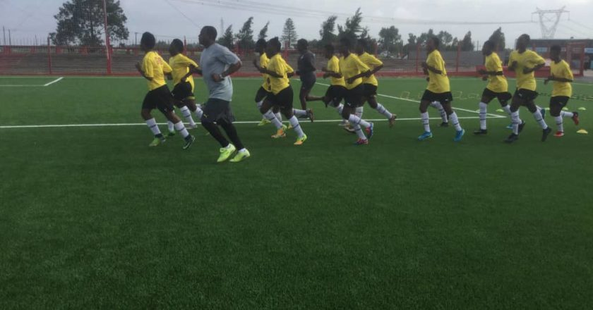 Ghana U17 side, Black Maidens had a training session