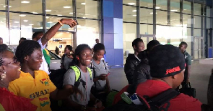 Black Maidens arrive in country after World Cup exit