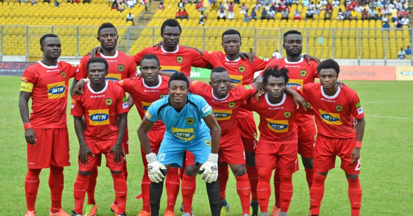 Asante Kotoko squad for Pacific Heroes friendly