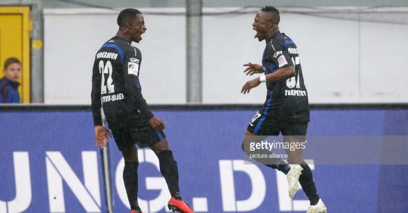 Ghanaian striker Bernard Tekpetey nets hat-trick for Paderbon