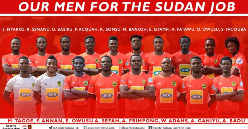 Asante Kotoko 18-man squad for Al Hilal clash