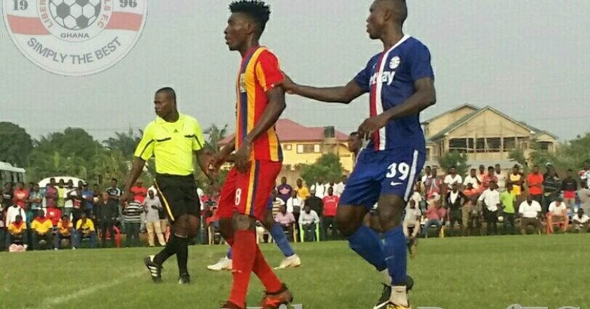Manaf Umar scores twice as Hearts beat Liberty Professionals in friendly