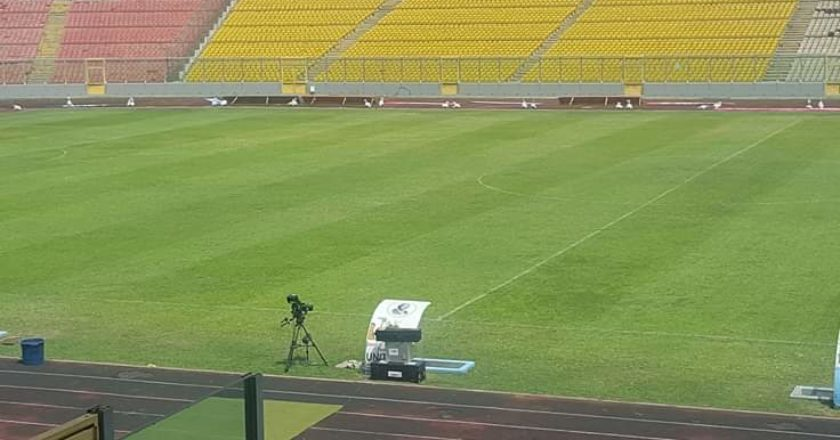 Baba Yara stadium pitch sees improvement ahead of CAF CC game
