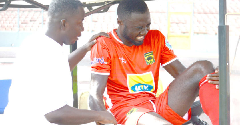 Asante Kotoko striker Dany Zabo out for six weeks