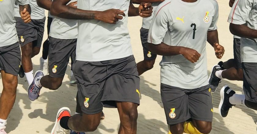 Pictures: Ghana Black Stars begin training sessions ahead of 2019 AFCON