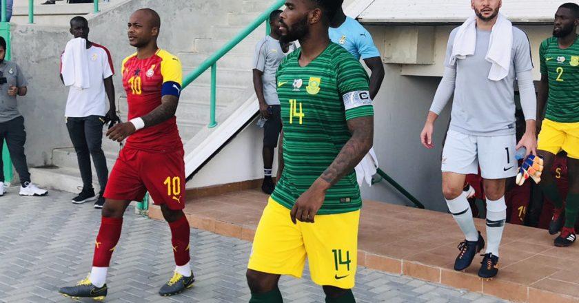 Ghana Black Stars held by South Africa in Pre-AFCON friendlies