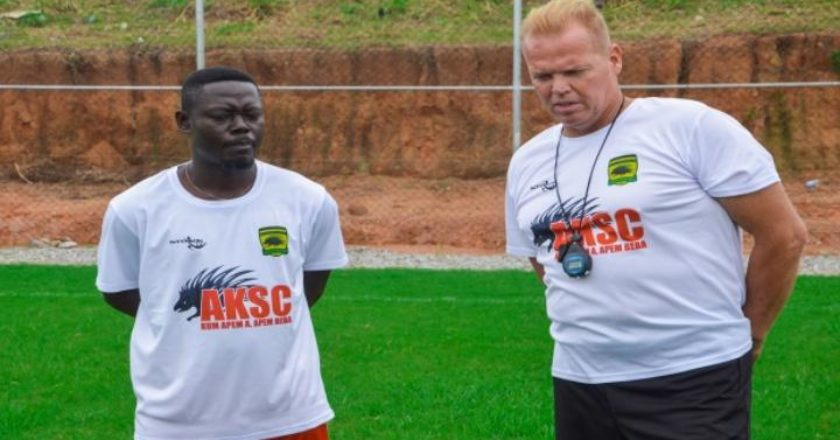 Pictures: Asante Kotoko first training session under new coach Zachariassen