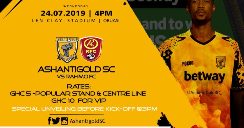 Ashantigold to play Rahimo FC in friendly game