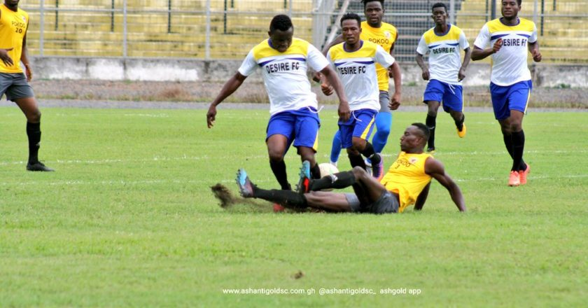 Ashantigold to play Division one side in a friendly game