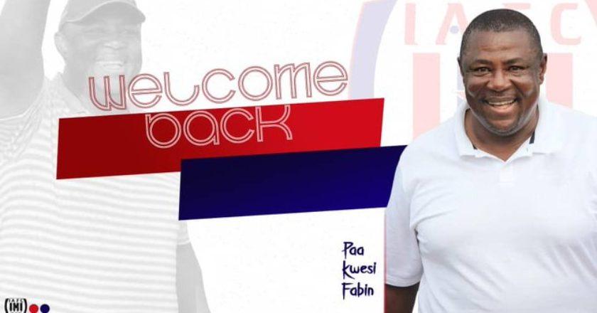 Inter Allies re-hire Paa Kwesi Fabin as Head Coach