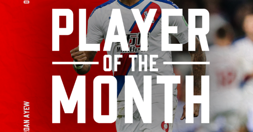 Jordan Ayew named Crystal Palace player of the month