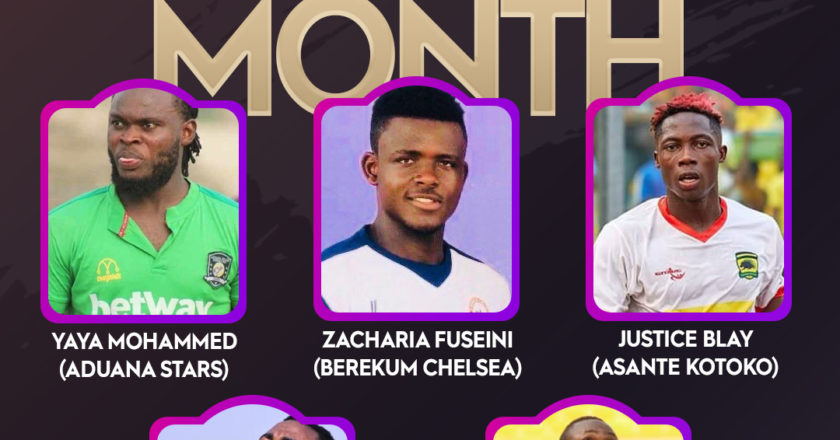 Ghana Premier League: Yahaya Mohammed, Justice Blay and three others nominated for NASCO Player of the month