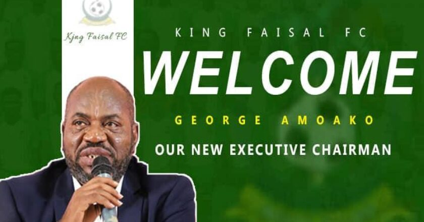King Faisal announce George Amoako as new club CEO