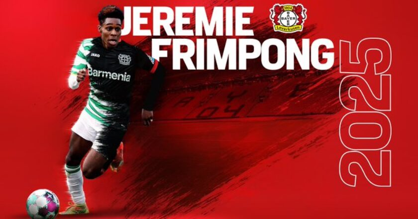Jeremie Frimpong joins Bayer Leverkusen
