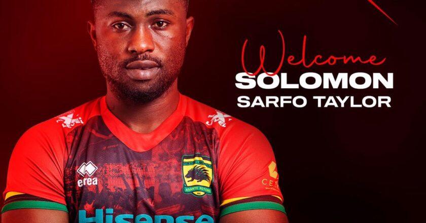 OFFICIAL: Asante Kotoko announce signing of Sarfo Taylor